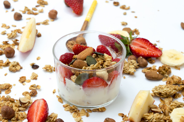 fromage blanc au granola fruits secs